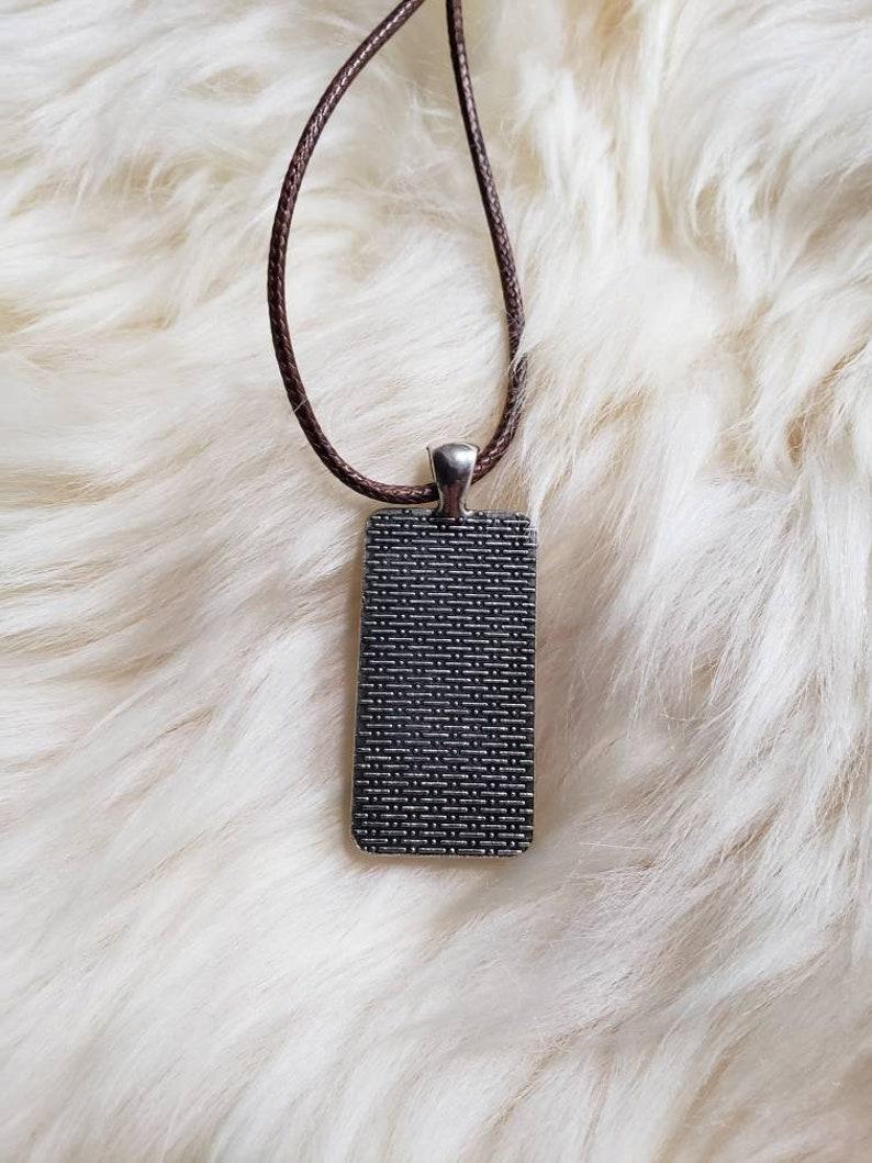 Fluid Art Jewelry Rectangular Pendant Wearable Art Acrylic Pour Jewelry