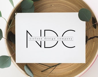 premade logo design · modern typography · minimalist logo · professional logo design · block lettering · watermark logo · small business