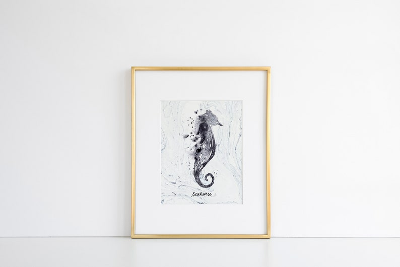 graphic about Seahorse Printable identify watercolor seahorse printable · coastal wall decor · nautical print · seahorse wall artwork · seaside decor · nautical portray ·ocean wall decor