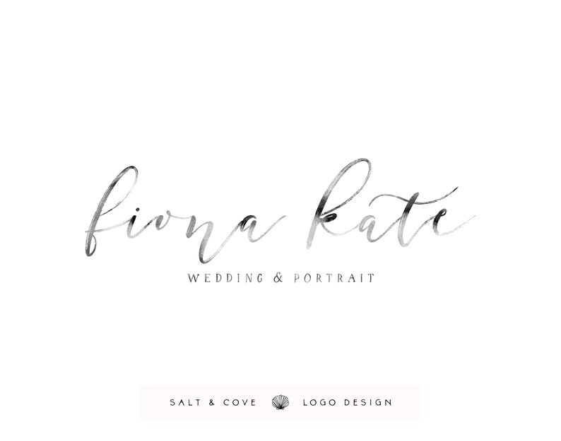 premade logo design  watercolor calligraphy  hand lettered image 0