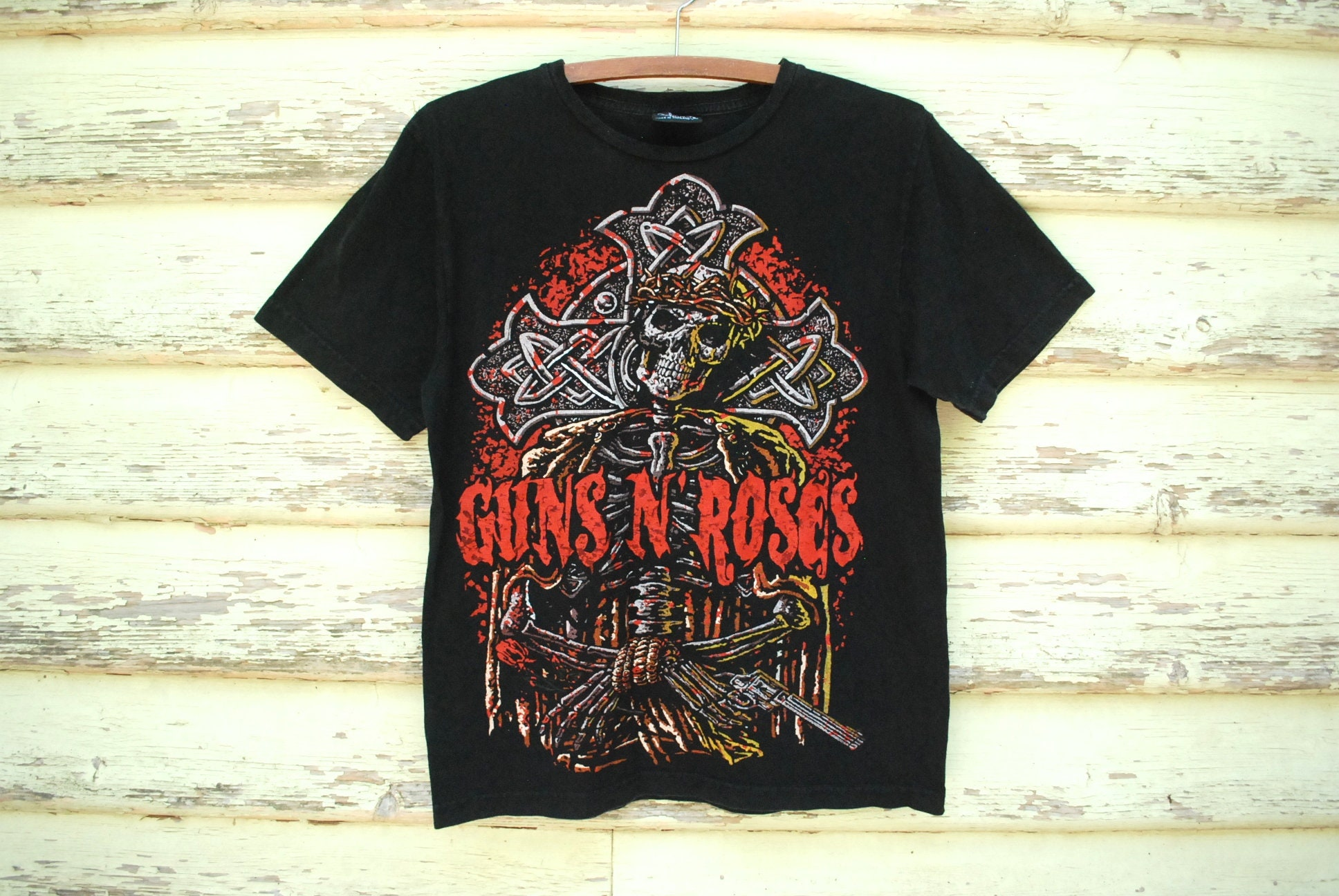 30fe64a4c2844 90s Guns N Roses T shirt Vintage Black Band Tee Rock and Roll
