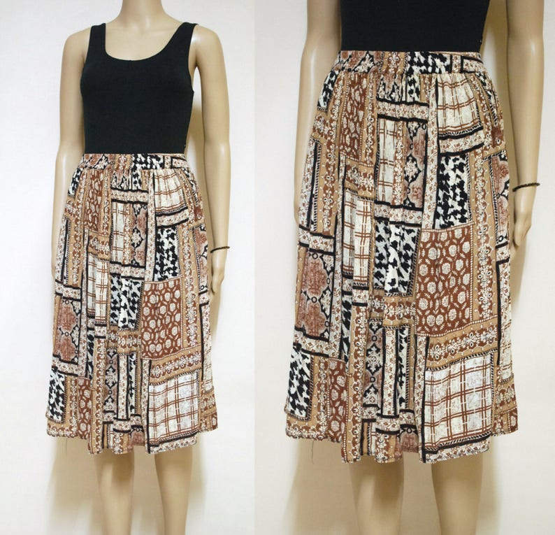 03dcff88897154 90s Peasant Skirt Gypsy Vintage Skirt Leopard Bohemian Animal