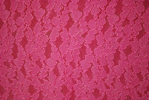 90s Hot Pink Lace Long Length T Shirt, Vintage Sh… - image 5