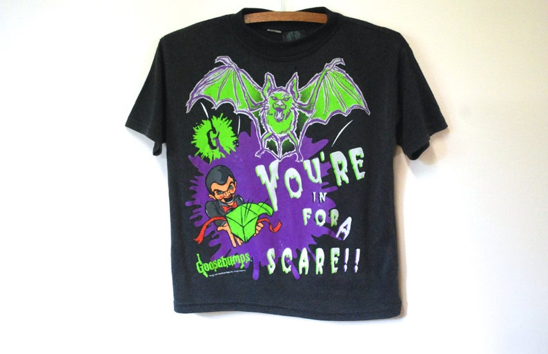 90s Goosebumps Glow in the Dark T Shirt Collectable Vintage image 0