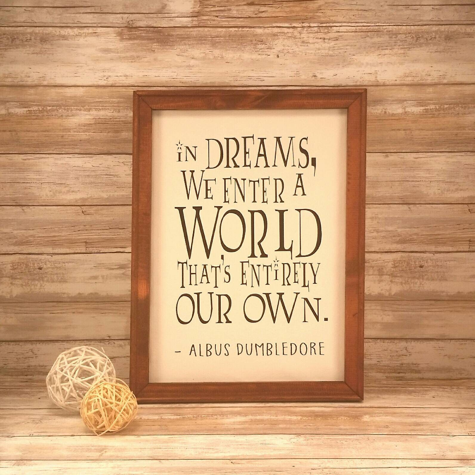 In Dreams We Enter A World Thats Entirely Our Own Canvas Sign