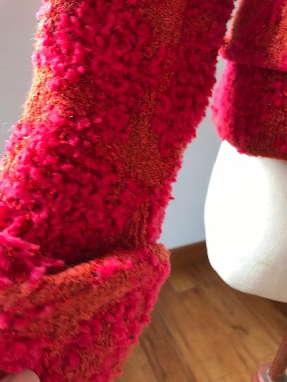 Vintage 90s CHANEL Multicolor Tweed Boucle Blazer… - image 8