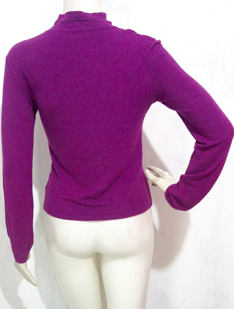 Sale from 119 Vintage VALENTINO Les Tricots Purple Violet Longsleeves Shirt like Thin Sweater