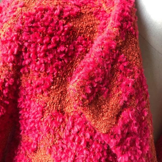 Vintage 90s CHANEL Multicolor Tweed Boucle Blazer… - image 9