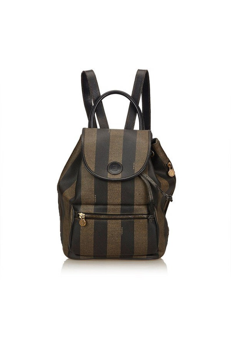 4991f81c7495 FENDI Vintage FF Mare Backpack Knapsack Bag