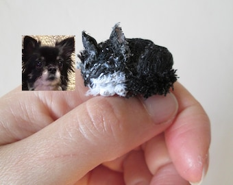 personalized pet memorial miniature custom animal totem soft figurine portrait cat dog sculpture