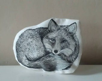 fox shaped coin pourses pouch bag woodland animal forest gift idea children teen handpainted