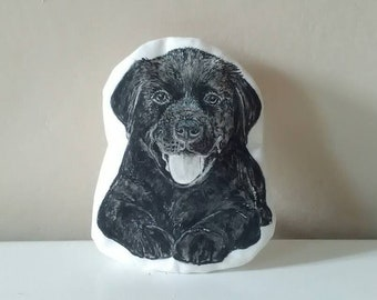 dog purse pencil case black labrador dog breed small bag handpainted illustrated drawing for dog sitter lovers owners
