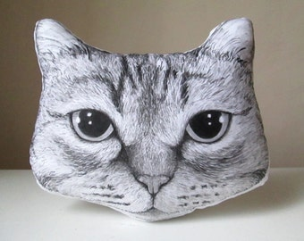 personalized cat portrait pillow look alike replica pet plush for animal lovers hand painted cushion gift idea