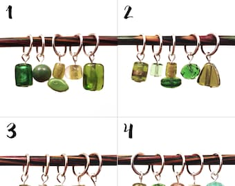 Stitch markers, glass stitch markers for knitting