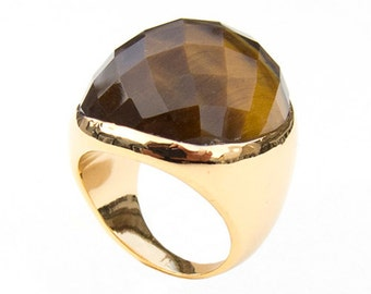 Ring with Tiger Eye, Size 9