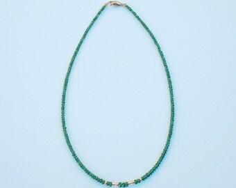 Necklace with Tzavorite Garnet, 16 inches