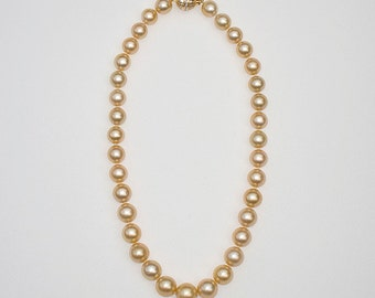 Gold Cloud Necklace, 18 inches