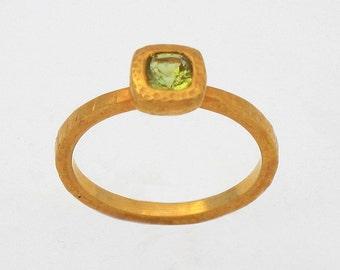 Ring with Vesuvianite, Size 7.5