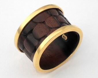 Ring with Ebony Wood, Size 11