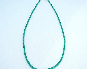 Necklace with Emerald, 17.5 inches