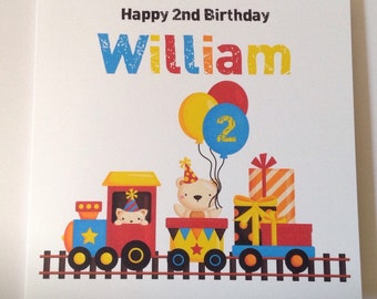Train Personalised 1st Birthday Card Son Grandson Nephew 2nd 3rd 4th 5th 6th