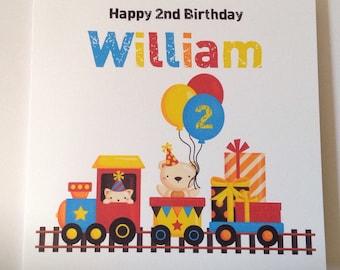 Train Personalised 1st Birthday Card Son Grandson Nephew 2nd 3rd 4th 5th 6th