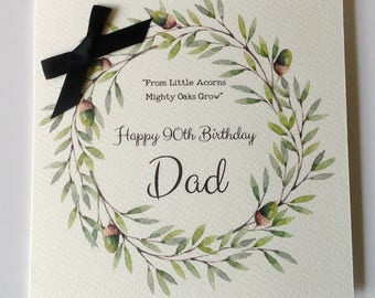 Personalised Birthday Card Dad Husband Grandad Brother Son Uncle 30th 40th 50th 60th 70th 80th 90th 100th