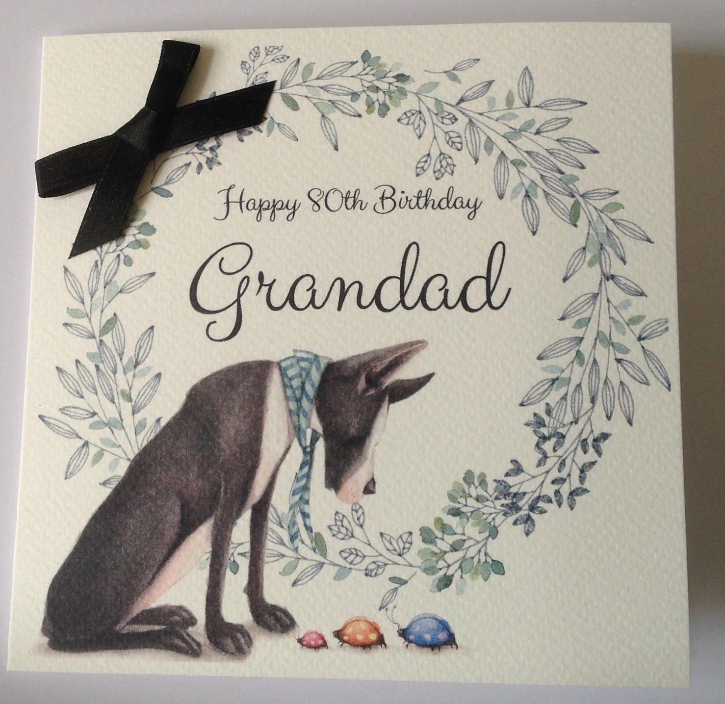 Personalised Dog Birthday Card Dad Husband Grandad Brother Son Uncle 30th 40th 50th 60th 70th 80th 90th 100th