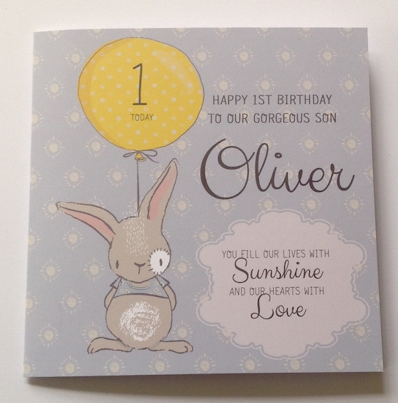 Cute Personalised 1st Birthday Card Son Grandson Nephew 2nd Etsy