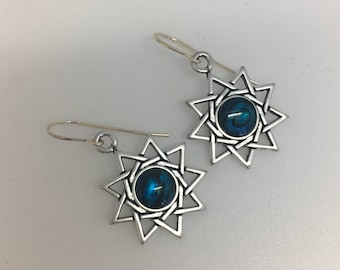 Nine Pointed Star Earrings E10523 Symbology by Lois Wagner