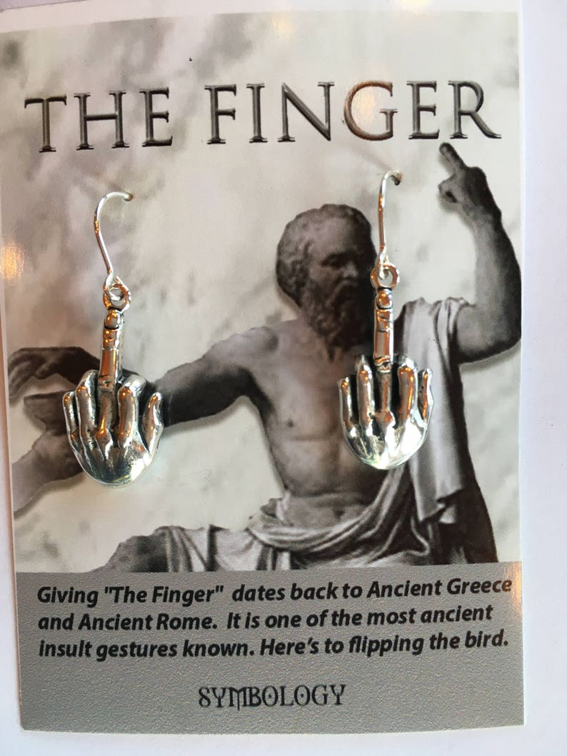The Finger Earrings E10552 by Symbology