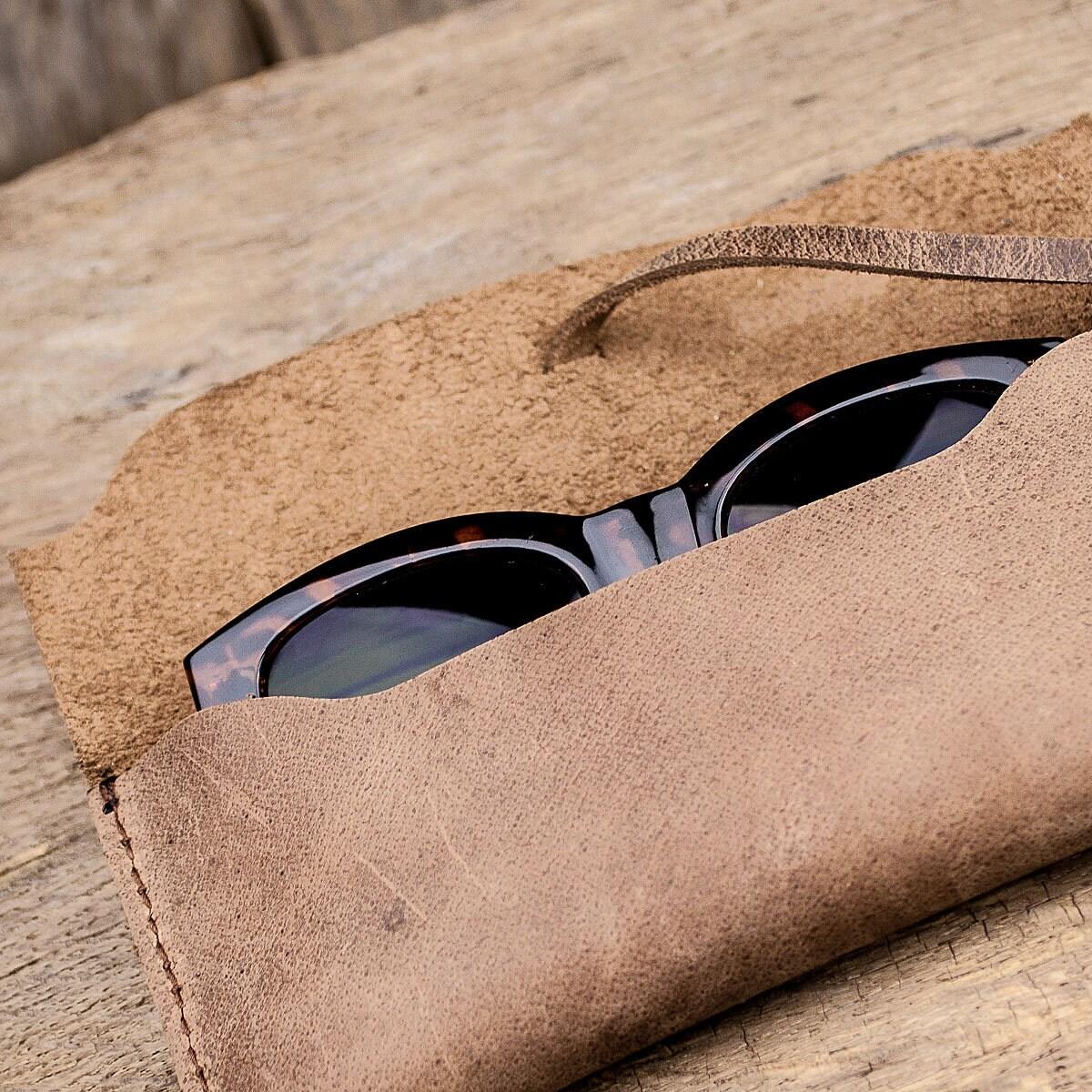 Leather eyewear case case glasses sunglasses glasses case