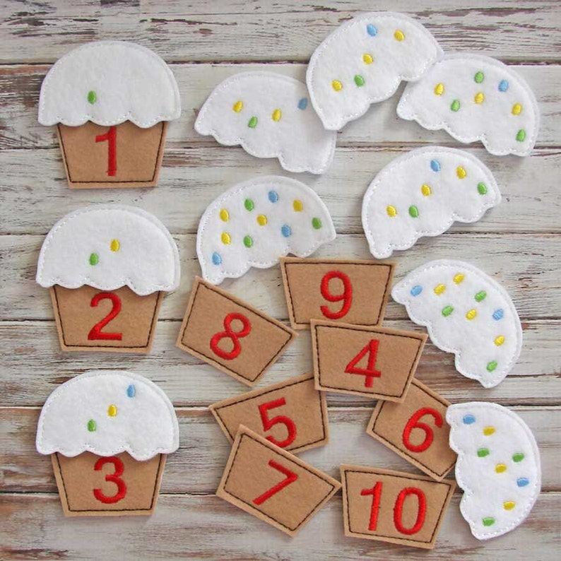 Counting Game Learning Numbers  Educational Felt Toy Toddler image 0