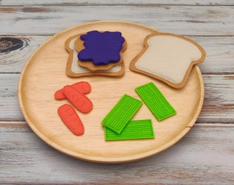 Felt Food Peanut Butter and Jelly Sandwhich, PB&J