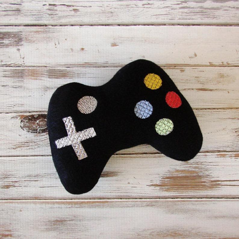 Geeky Baby Gift Future Gamer Plush Baby Toy Game Black