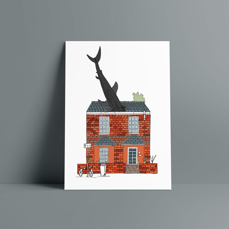 SHARK HOUSE Oxford A5 print image 0