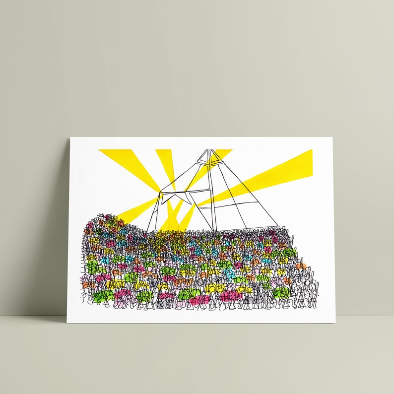 GLASTONBURY PYRAMID STAGE print image 0