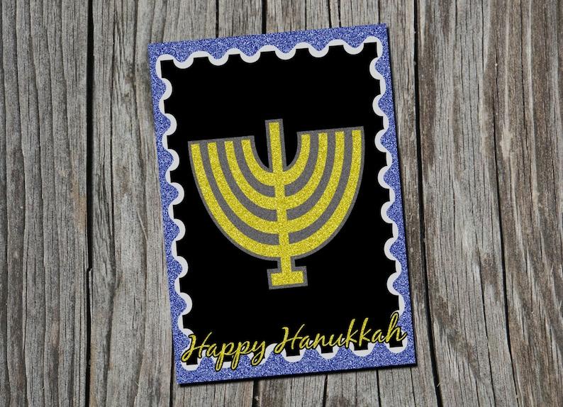 Happy Hanukkah Card SVG. SVG card for Cricut Silhouette Card image 0