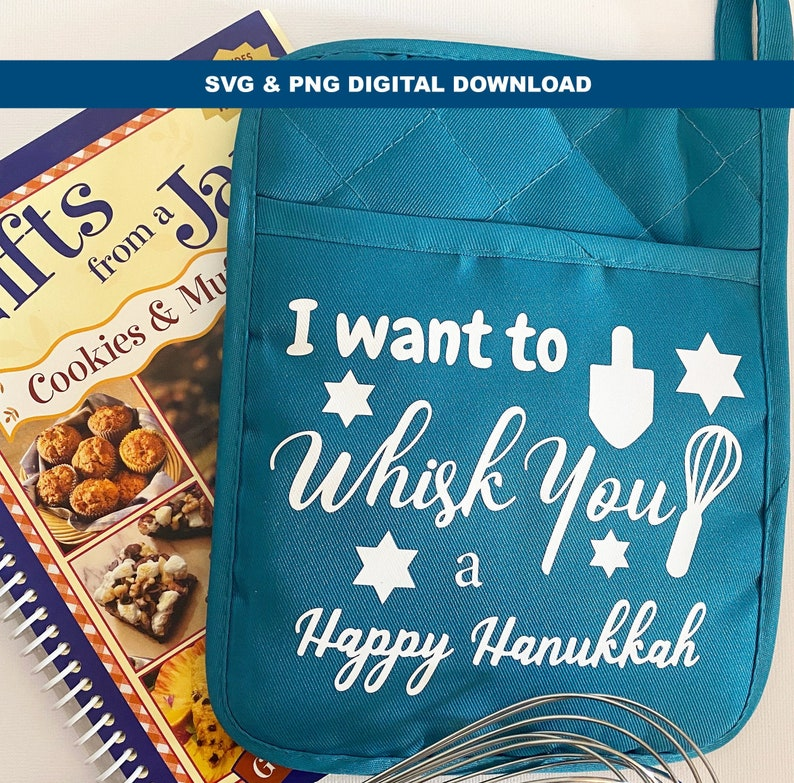 I want to whisk you a Happy Hanukkah SVG. Great Digital image 0