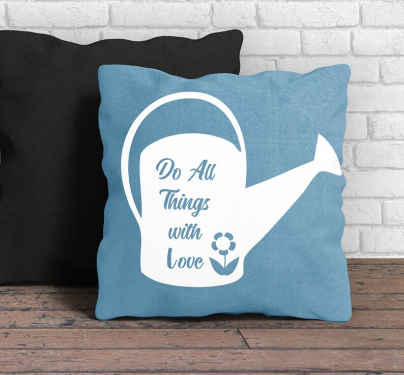 Do all things with love watering can svg png dxf spring decor image 0