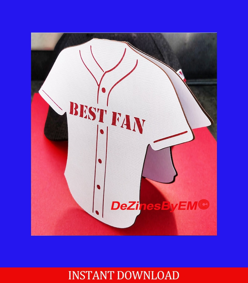 Best Fan Sports Jersey SVG card for Cricut Silhouette and image 0