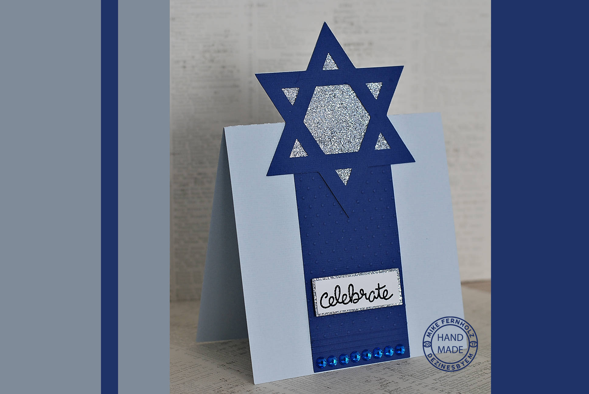 Happy Hanukkah Star Of David Card Svg For Electronic Cutting Etsy