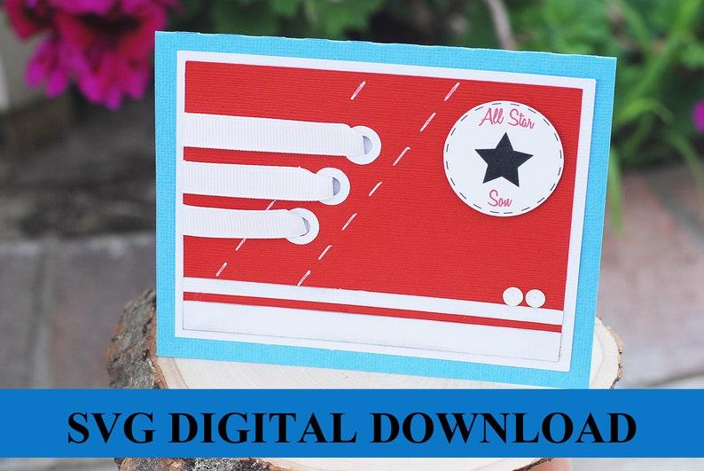 Shoe Card SVG Digital Download image 0