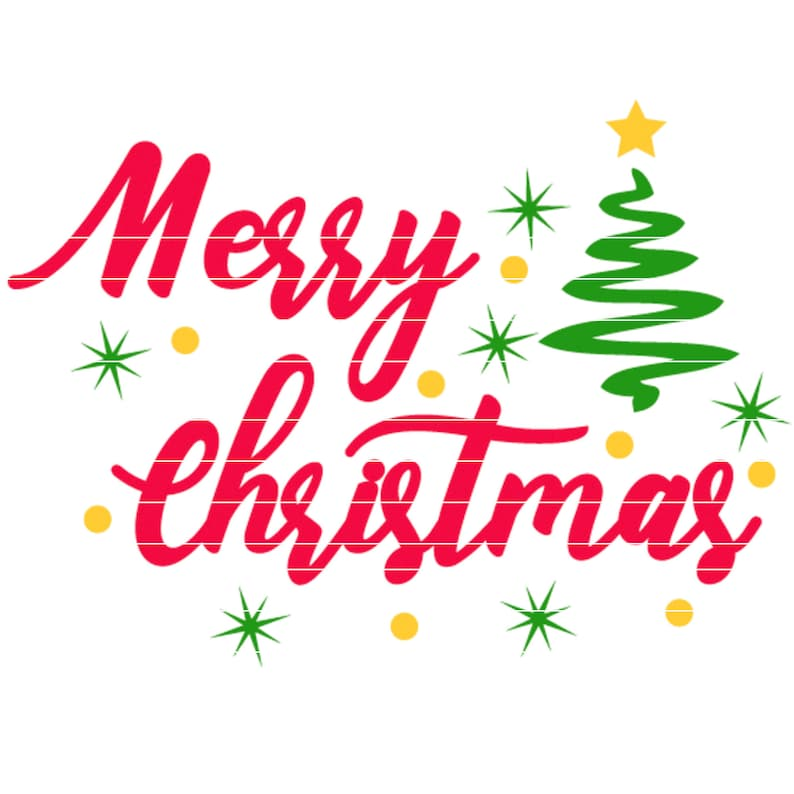 Merry Christmas SVG. Cuttable vector file for Silhouette and image 0