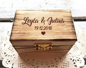 Memory box, personalized with engraving, motif, text for special occasion / gift box / wedding box / birth or christening box  / storage box