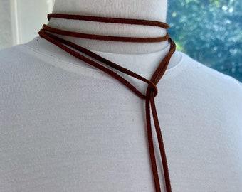 necklace, citrine necklace, Madeira citrine necklace, citrine necklace, suede jewelry, suede lariat, Christmas for her, citrine jewelry