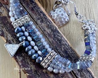 bracelet, opal bracelet, druzy jewelry, cuff bracelet, opal jewelry, silver druzy bracelet, bohemian bracelet, Christmas for her, for her