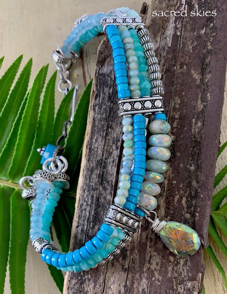 aquamarine bracelet quartz bracelet amazonite bracelet turquoise bracelet opal bracelet cuff bracelet bracelet Christmas for her