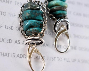 earrings, turquoise earrings, blue earrings, sterling silver earrings, bohemian earrings, boho chic earrings, Christmas for her, for her
