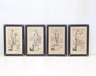 Set Of Four English Engraving Of Greek Gods
